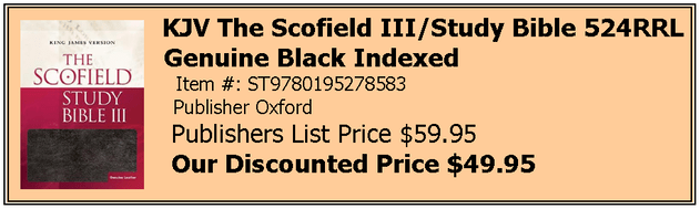 The Scofield Study Bible - Gen. Lea. Black